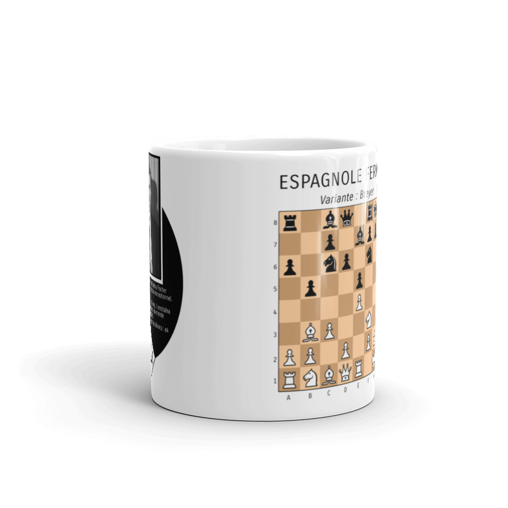 mug echecs ouverture partie espagnole bobby fischer