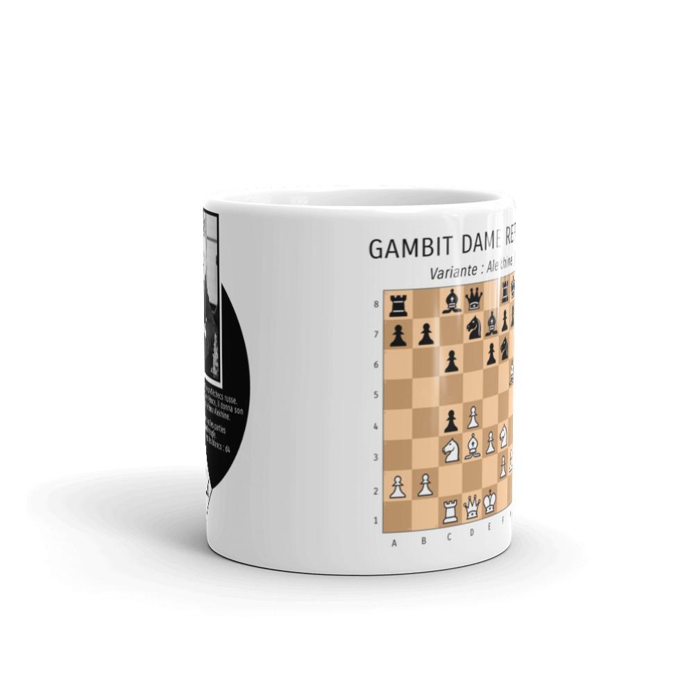mug echecs ouverture gambit dame alexander alekhine