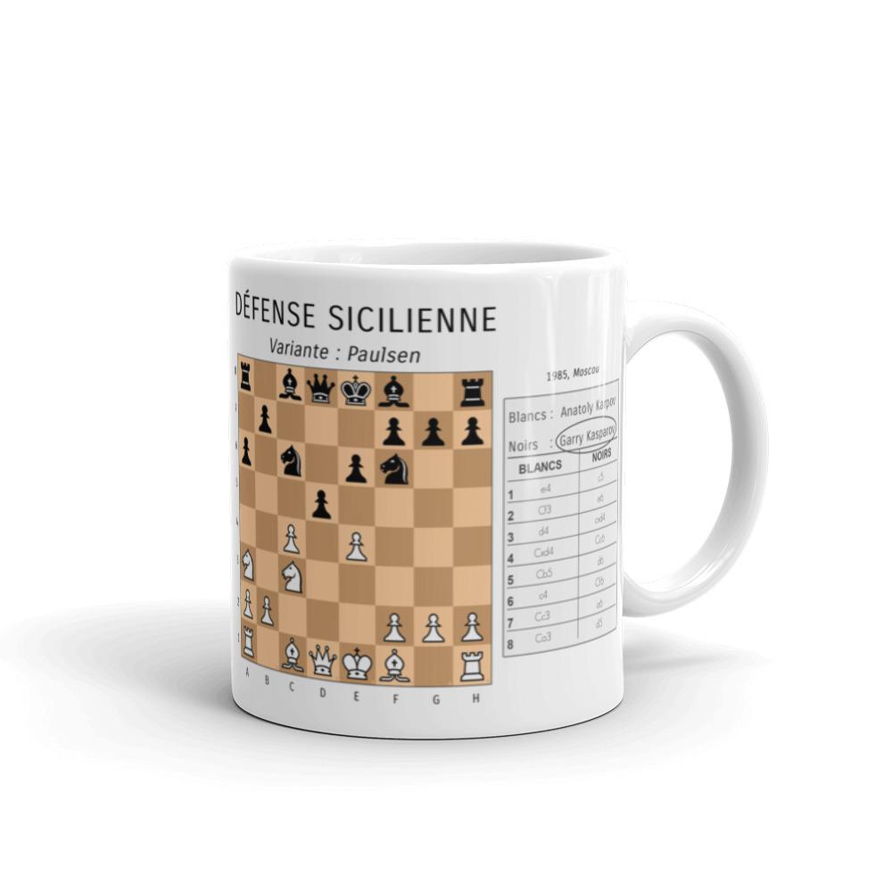 mug echecs ouverture sicilienne garry kasparov