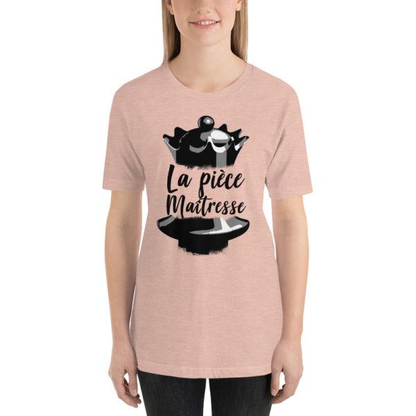 T-shirt echecs design unique Dame pièce maîtresse