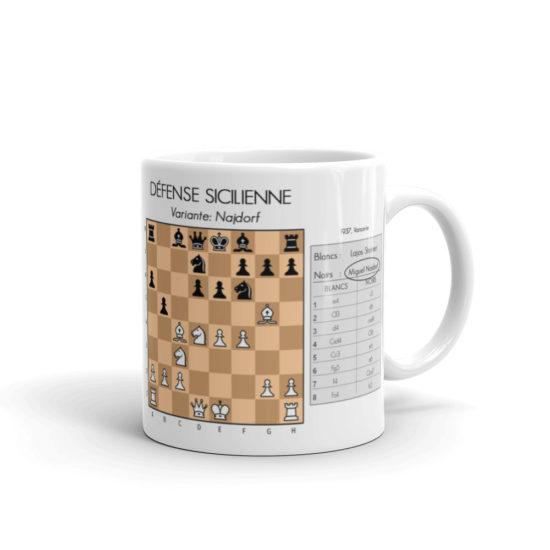 mug echecs ouverture défense sicilienne miguel najdorf