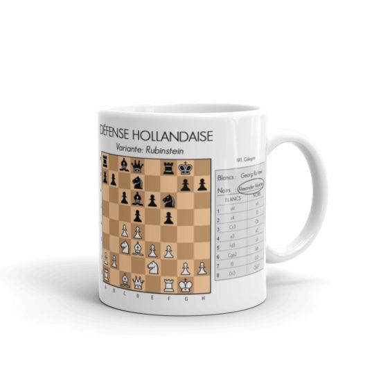 mug echecs ouverture défense hollandaise alexander alekhine