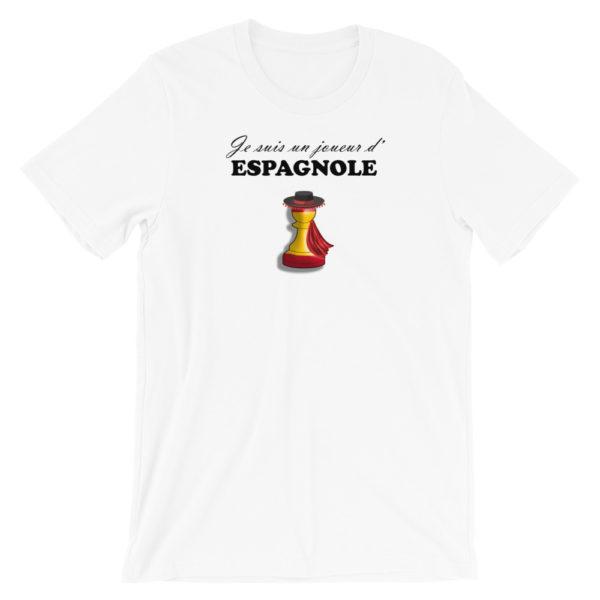 t-shirt echecs ouverture partie espagnole
