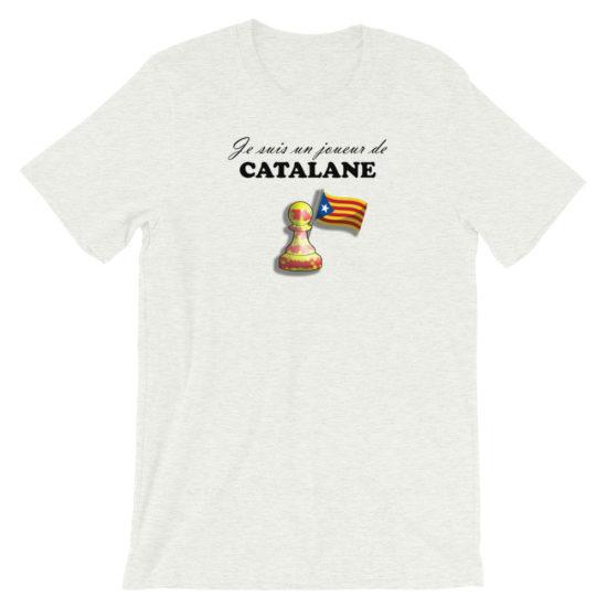 t-shirt échecs ouverture partie catalane