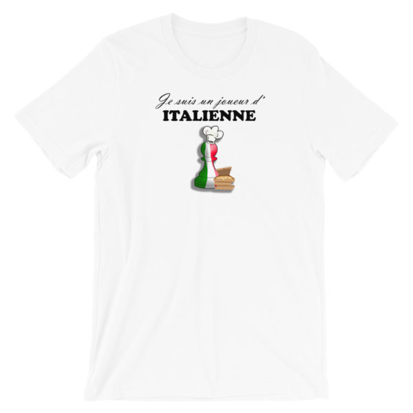 t-shirt echecs ouverture partie italienne