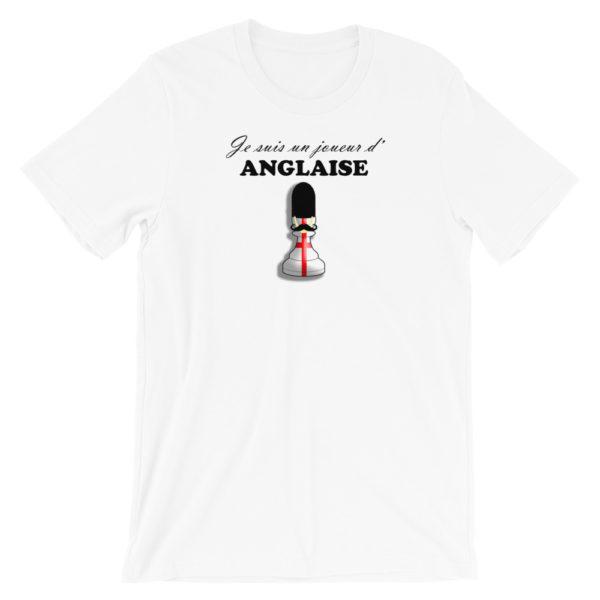 t-shirt echecs ouverture anglaise