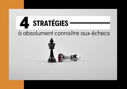 stratégies échecs simples pour gagner aux échecs